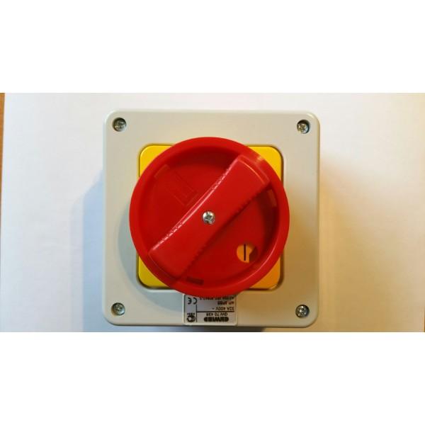 interrupteurs rotatif en saillie pour coupure d 39 urgence. Black Bedroom Furniture Sets. Home Design Ideas